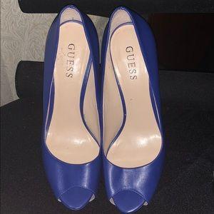 Blue Guess Heels